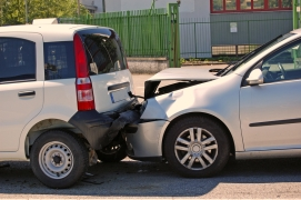 Car collision in the urban area